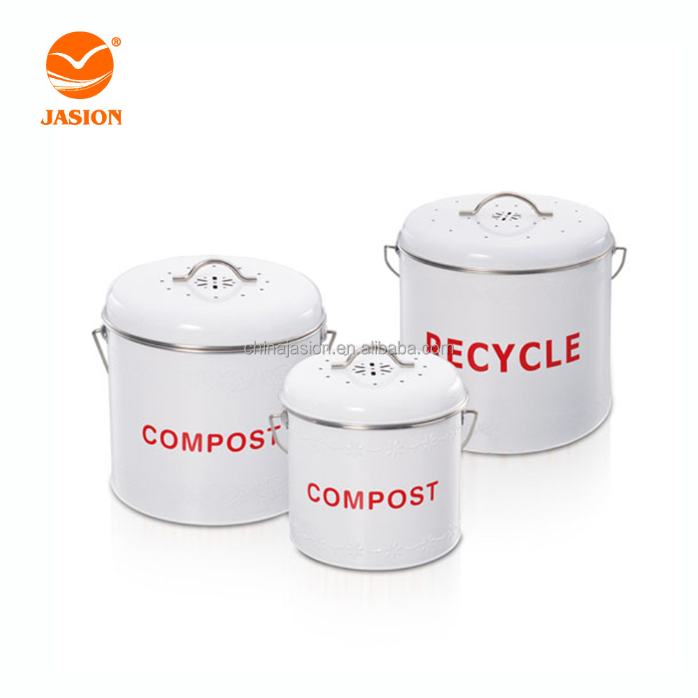 wholesale kitchen recycling compost pail with charcoal filter for worktop