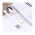 Travel spoon fork chopstick stainless steel travel camping colorful cutlery set box