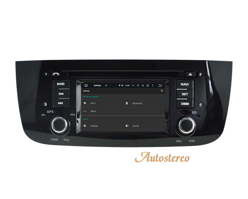 "6.2"" Android 7.1 Quad Core Autostereo Head Unit With GPS Navigaiton IPOD RDS Maps for FIAT Punto 2009-2015"