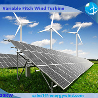 20kw wind solar hybrid power system include wind turbine/solar panel/inverter/controller/battery