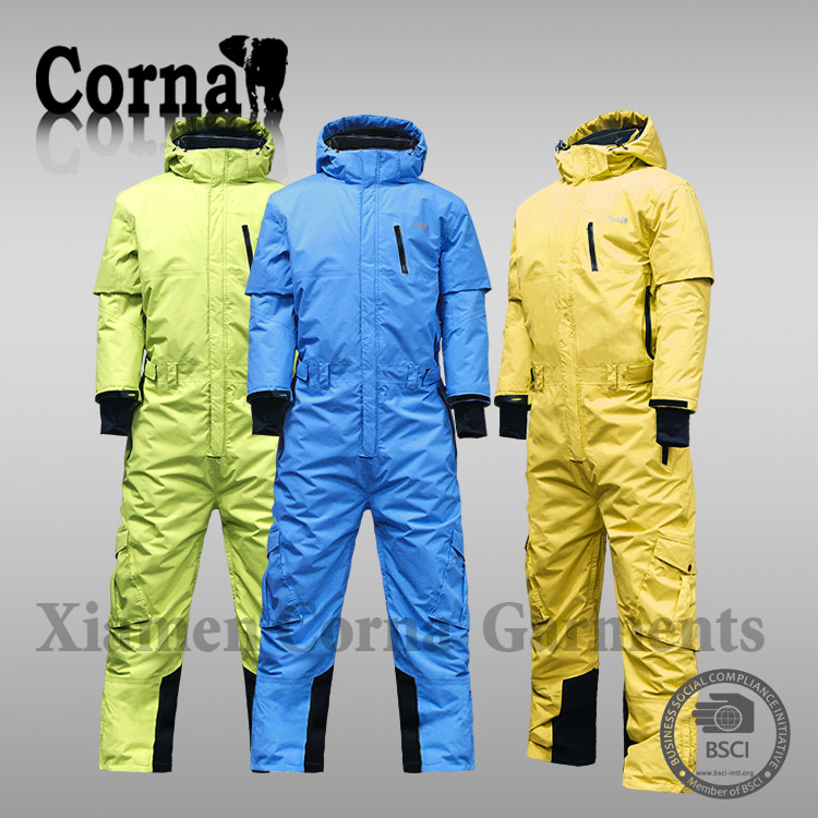 Last design fashionable thermal snow suits padded one piece