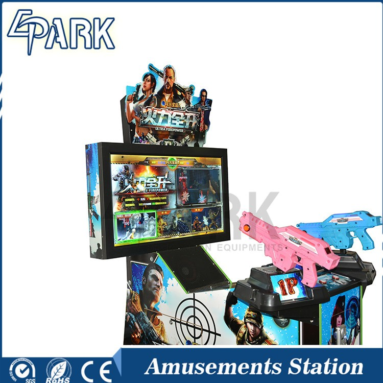 Interesting dynamic gun shooting video game machine for sale