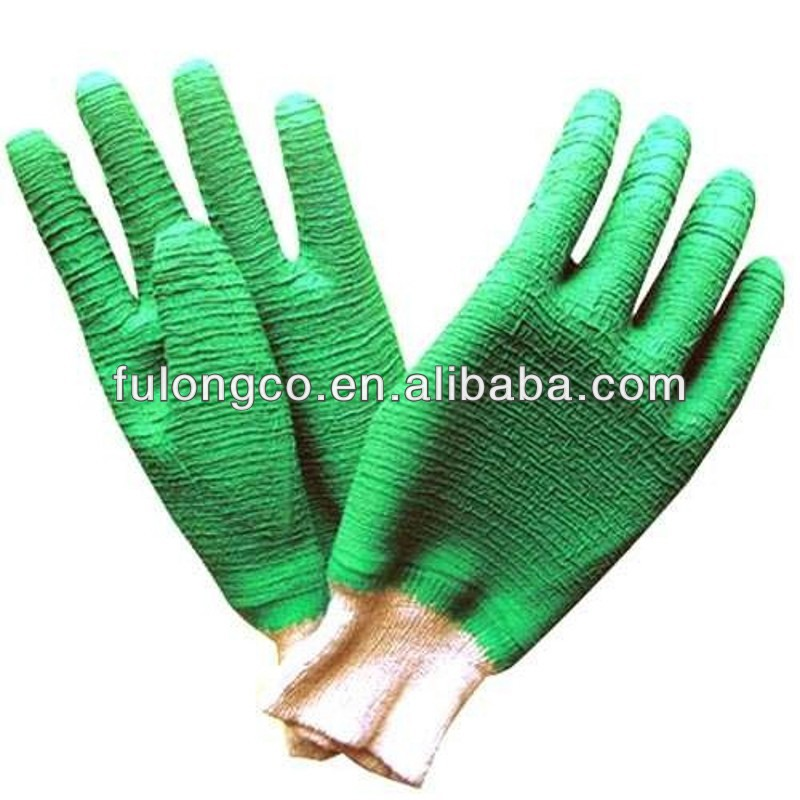 latex coated gloves knit wrist