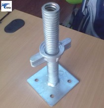 galvanized scaffolding prop hollow base jack with screw rod price