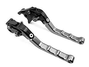 2 Pcs Gray CNC Folding Billet Motorcycle Levers Racing Sport Foldable Brake Clutch Fit For MOTO GUZZI Bellagio 2009 2010 2011 (DC-80/F-16)