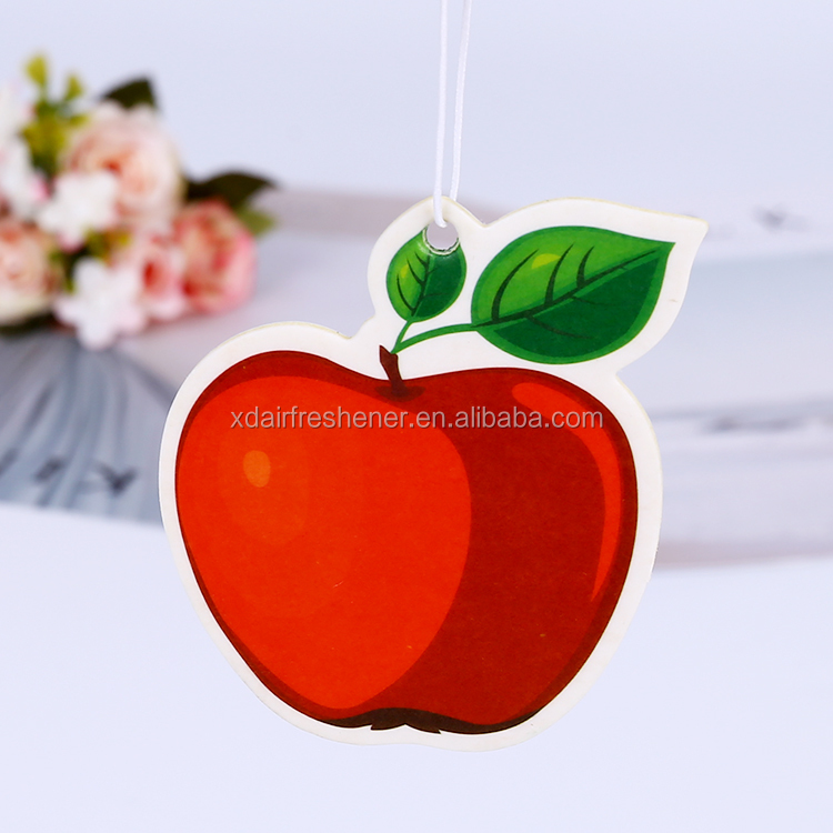 Bulk Absorbent Cotton Paper eco-friendly custom cardboard shape tree hanging fruit car air fresheners, air freshener for car