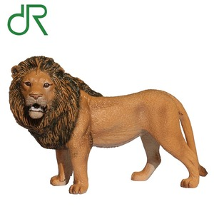 Mini world Realistic lion hard rubber animal toy model