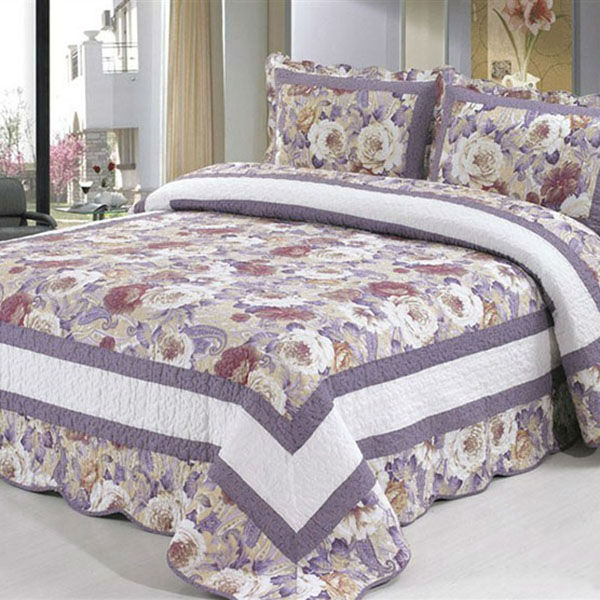 BW-A0-47 Quee size three pcs plain wave of four seasons bedsheet