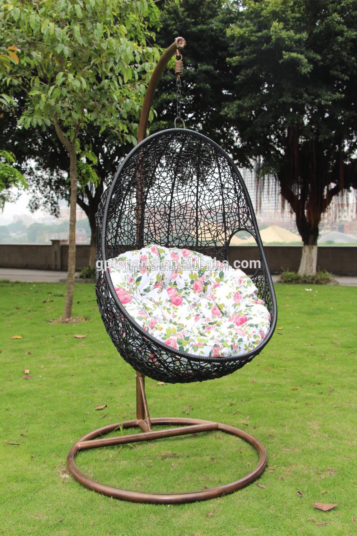 Gazebo outdoor rattan sillas de huevo colgante columpio for Silla columpio