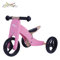 Kids 2-in-1 Wooden bike and trcycle for Baby for Europe Market