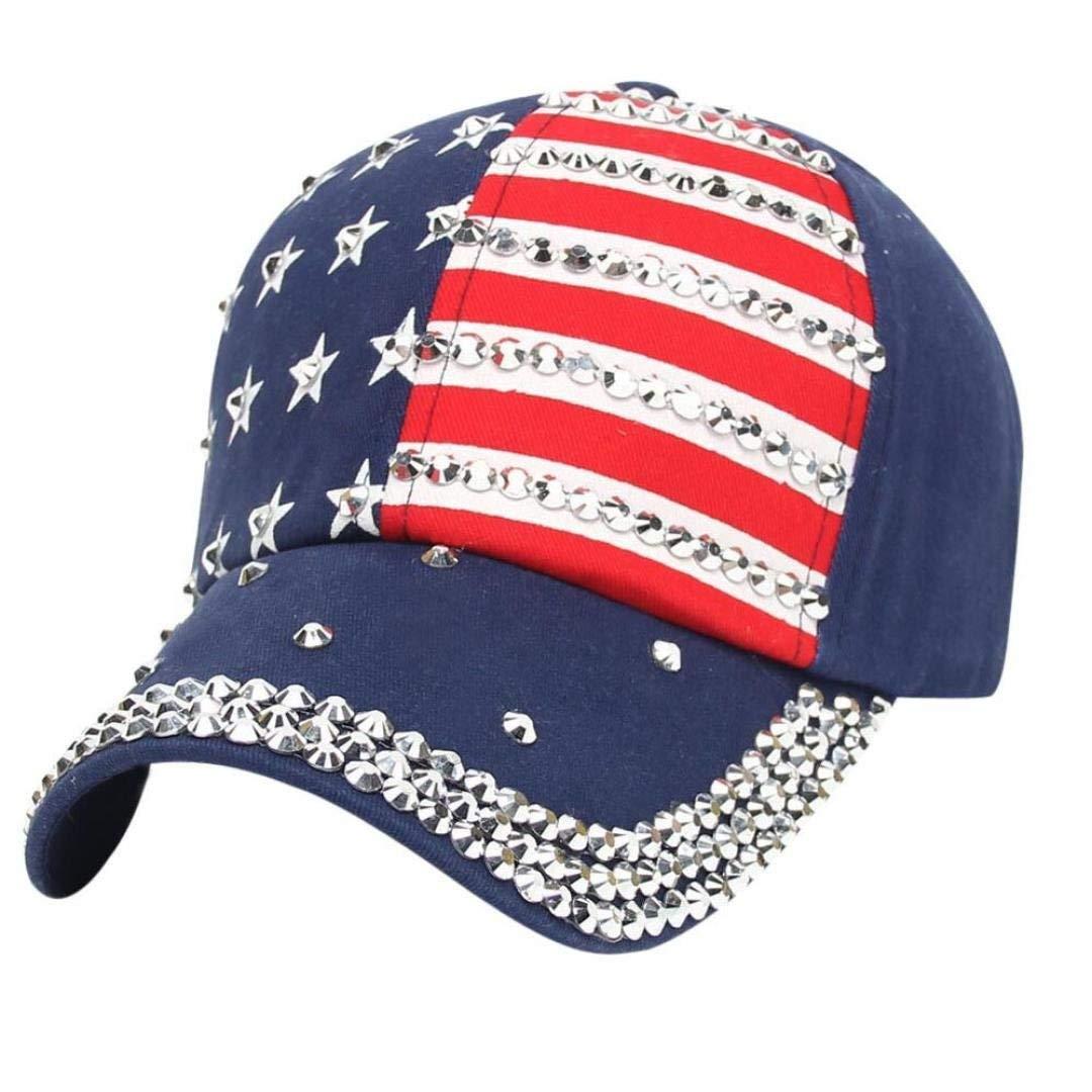 Get Quotations · Funic Clearance Sale Women Men American Flag Printed  Baseball Caps Snapback Hip Hop Flat Hats b1a6a25b6e46