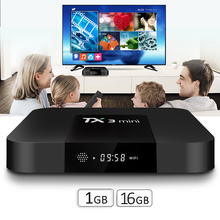 TX3 mini 1 GB 16 GB Set Top Box Android TV Box Supporto U DISK USB e <span class=keywords><strong>HDD</strong></span> Android 7.1 TV Box Lettore Streamer