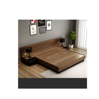 king platform bed frame with headboard soft style space saving
