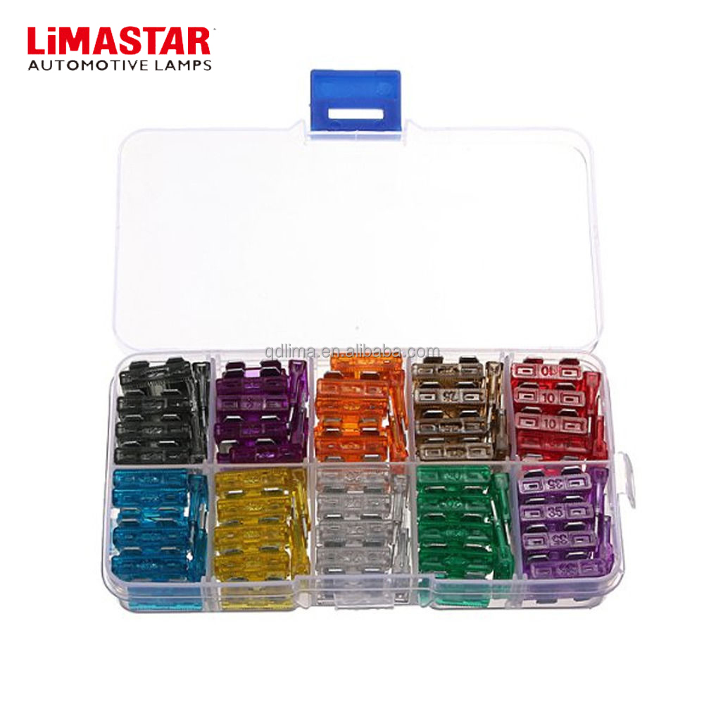 Limastar Car Fuse Box Mixed Auto Truck Ats Atn Atm Att Atc Mini Safety Blade 5a 10a 15a 20a 25 30a Amp Set Kit Buy 12v 24vmini 1aauto