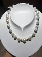 12mm 18k gold filled freshwater pearl necklace