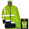 mens high visibility yellow work clothing