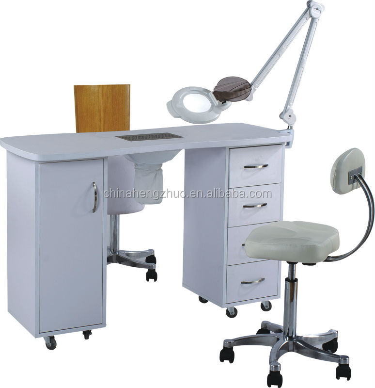 Nail table with extractor fan best nail 2017 for Nail salon table
