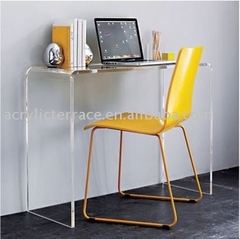 Clear Acrylic Console Laptop Table Desk