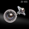 Wholesale high quality sterling silver black pearl stud earring jewelry