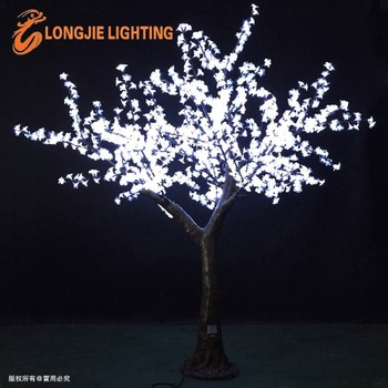 Outdoor Artificial Trees With Lights White Lighted Led Cherry Tree Light  For Yard Or Garden Decoration