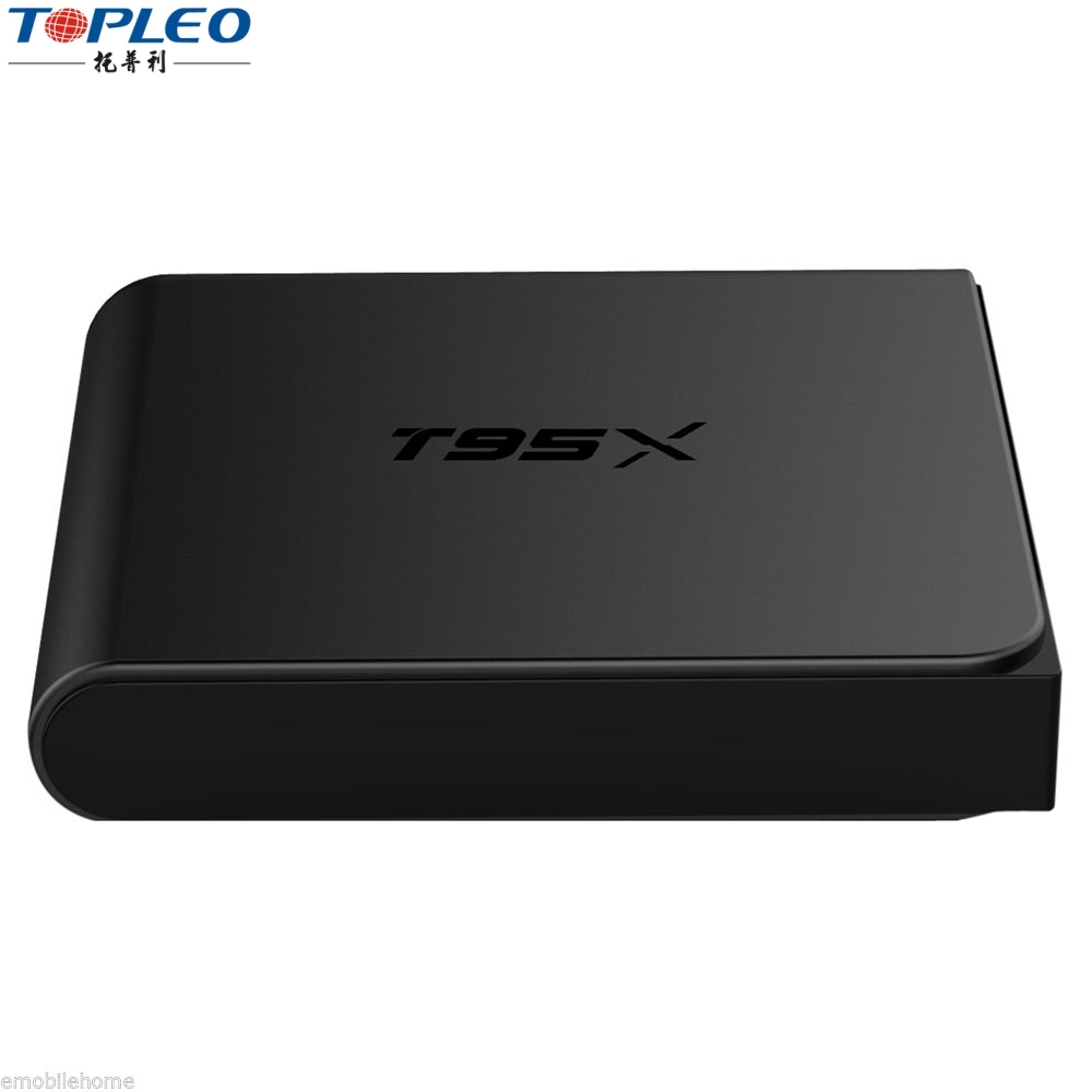 Preto e branco desi android tv box 6.0 Quad Core 4 k 3D 2.4g WIFI e BT caixa kd s905x