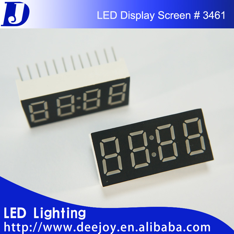 0.36 inch 4 digit led number 7 segment display for counter price sign 3461