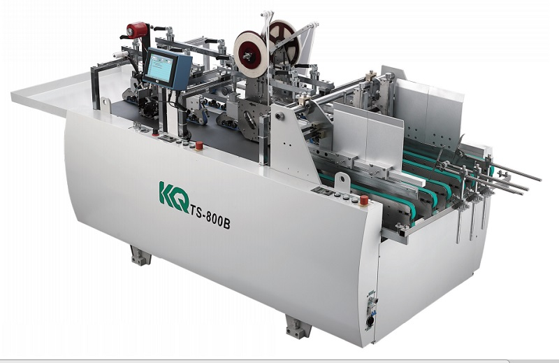 KQ# TS-800B Automatic taping machine double side tape applicator easy tear tape adhesive machine for making express bag