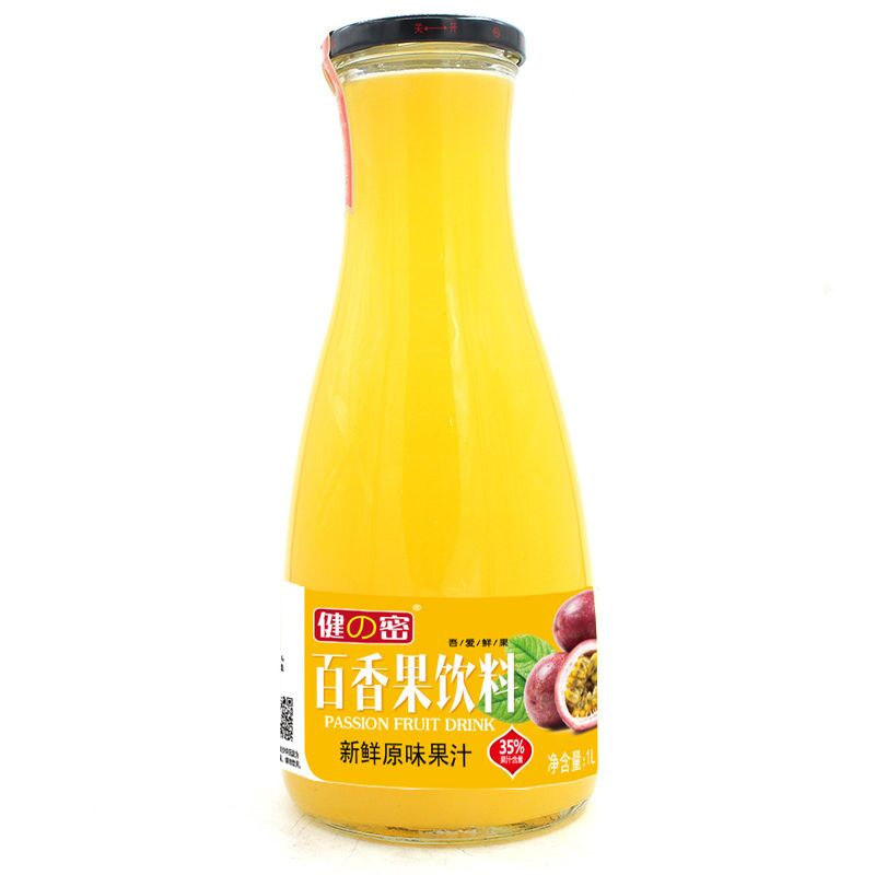 1L Fresh date passion fruit juice in glass bottle