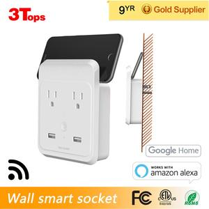 Wall Smart WiFi Socket, Tuya Remote, Control Via Smartphone from anywhere , Works with Alexa