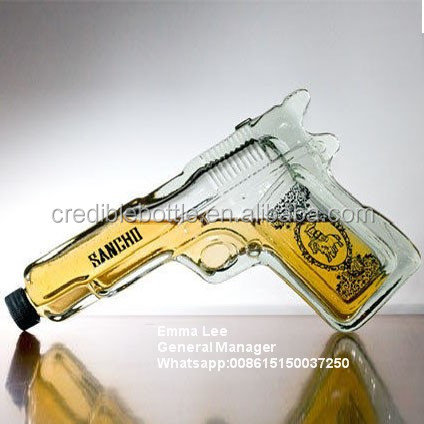 gun shaped glass bottles glass bottle gun bottle