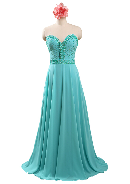 2015 Sweetheart Chiffon Mint Green Cheap Prom Dresses Piece Under 100 Size 2 4 6 8 10 12 14 16