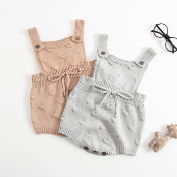 S63645B Baby Girls Knitting Romper Newborn Baby Girl Clothes Fashion Knitted Baby Romper Overalls Autumn Sweater Boys rompers