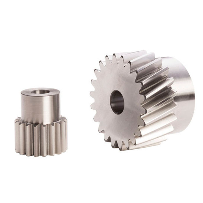 helical toothed master gear with hub and small bore