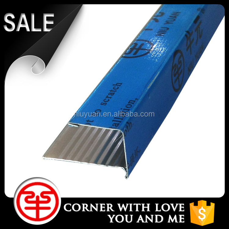 Perfect And High-quality Square Edge Metal Tile Corner Edge Trim Wall Corner Guard