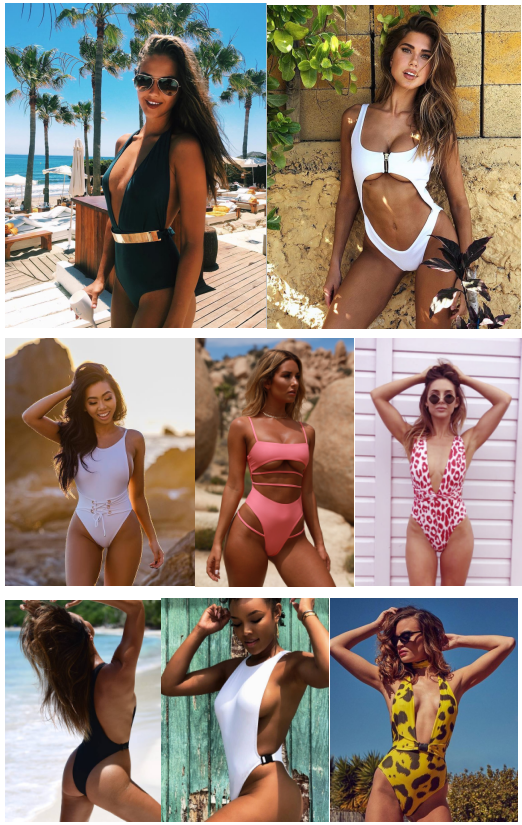 2019 black and sunflower hot sexy young girl swimsuit open korean two piece swimwear