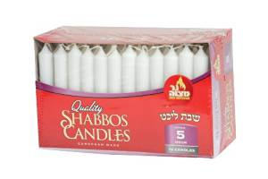 Quality Tapered Shabbos Candles / 5 Hour Burn Time - Pack of 72