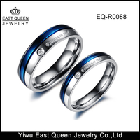 East Queen Jewelry Titanium Steel Rings Roses Are Red Couple Rings