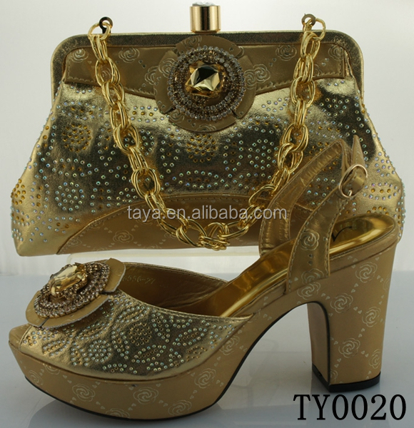 women with and for gold dress rhinestones bags matching italian shoes RwZXn8