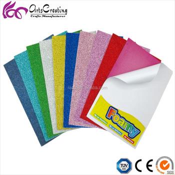 62991e92c8b Glitter EVA Foam sheets with sticker