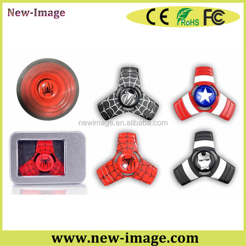 R188 Bearing TheAvengers Fidget Spinner The spideman,iranman, captain america hand spinner
