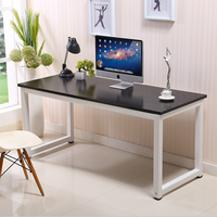 Simple Style Computer Desk Vintage wood metal frame computer table for sale 5ft long