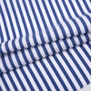 Blue and white yarn dyed color stripe rayon printed woven challis cotton plain fabric for women dress