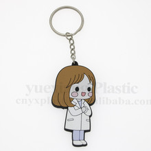 Wholesale funny couple keychain custom engraved soft pvc couple key ring popular design couple pendant with high quality