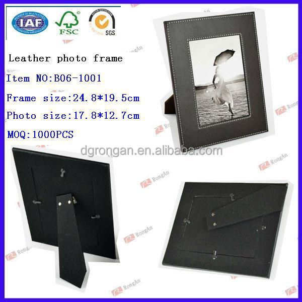 MDF structure P0 PVC leather photo holder for picture B06-1001