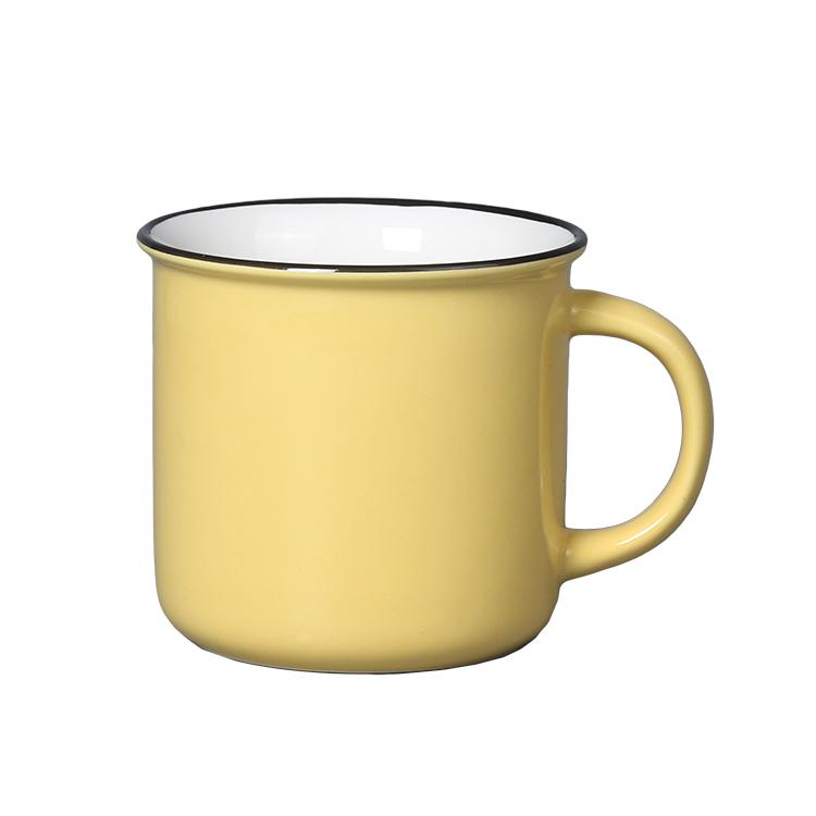 Drinkware reusable home use tea cup with logo printing custom ceramic blank coffee mugs wholesale