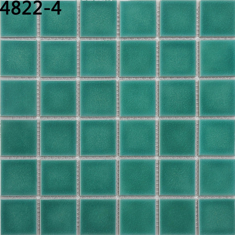 Building material mosaic tile green ice crack mosaic