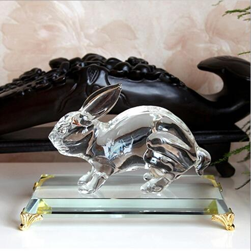 Excellent Customize Crystal Animal With Base Figurines For table decor