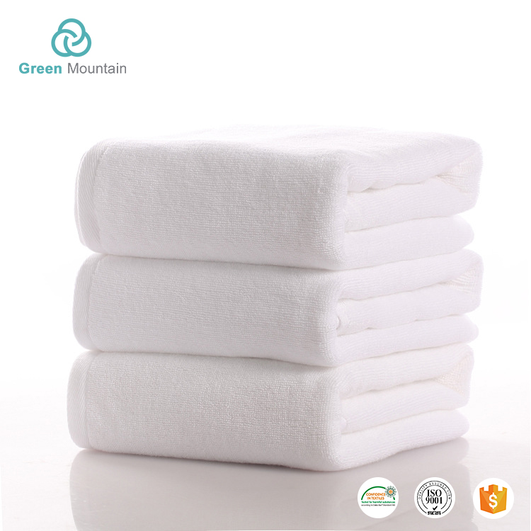 Green Mountain Free sample star hotel customized White genuine 100 cotton towels