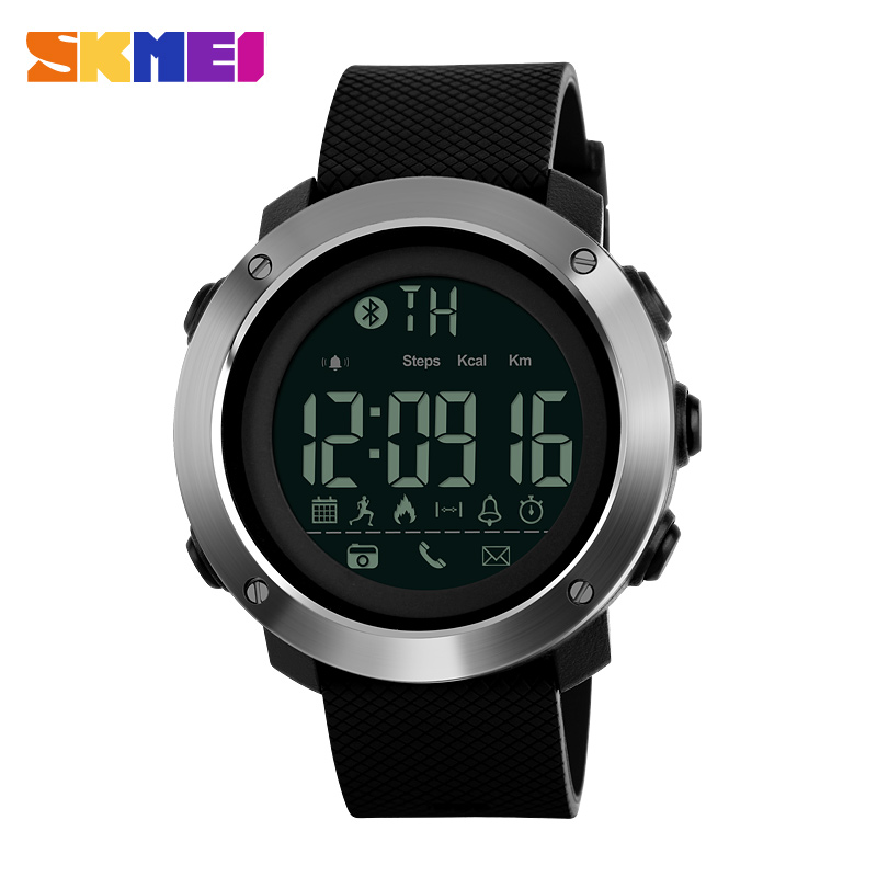 SKMEI 1285 & 1287 promotional wrist watch remote camera calorie pedometer multifunctional sport digital smart watch фото