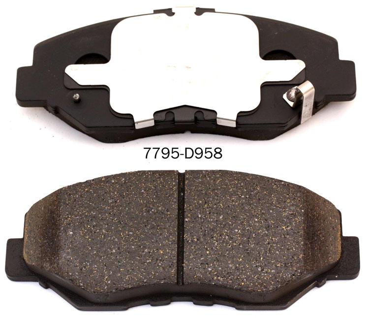 meilleur vente d958 semi m tallique remplacement des plaquettes de frein fait en chine buy. Black Bedroom Furniture Sets. Home Design Ideas